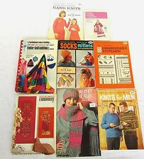 8 Vintage Coats & Clark's How To Hand Knits Embroidery Knits for Men Twice Knit