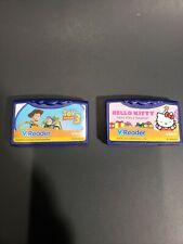 Vtech V.Reader LOT Game Cartridges Hello Kitty Toy Story 3