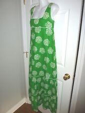 Vintage Malia Honolulu Green White Sleeveless Dress Size 10