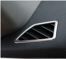 Matt Dashboard Front Air Vent Outlet Cover Trim 2pcs For BMW X5 E70 2009-2013