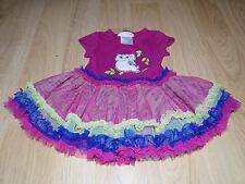 Size 18 Months Bonnie Baby Owl Dress Tulle Skirt Magenta Pink EUC