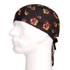 Bandana pañuelo cabeza casual deportiva motero calavera llamas - skull