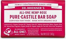 Dr Bronner's / Bronners Hemp Rose Scent Pure-Castile Magic Bar Soap Organic