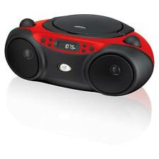 Am Fm CD Boom Box gpx Boombox player Radio with Portable playback Red Line