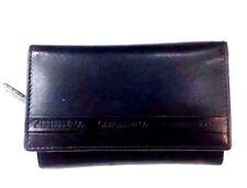 Women RFID Cabrelli & Co Italian Leather Wallet  Black  Trifold