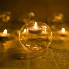 Glass Tea Candle Holders Round Tea Light Holder Wedding Tealight 8cm