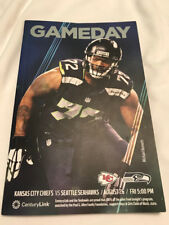 SEATTLE SEAHAWKS GAMEDAY PROGRAM: VS. CHIEF ON AUGUST 25, 2017