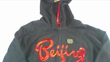 Roots Beijing China USA Olympics Jacket Hoodie Sweatshirt Lightweight Juniors L