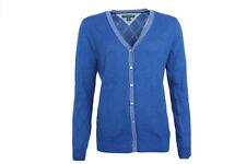 Cardigan da donna in cotone blu