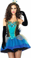 Leg Avenue Sexy Peacock Beauty Blue Teal Costume Size M Halloween New