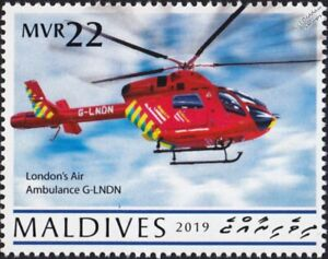 McDonnell Douglas MD-902 EXPLORER London Air Ambulance Helicopter Aircraft Stamp