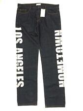 FAITH CONNEXION Los Angeles Hometown Print Dark Blue Denim Jeans 36 (MSRP $725)