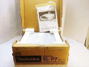VINTAGE 1983 TECHNICS COMPACT DISC CD PLAYER SL-P7 Mint Condition