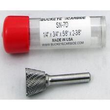 Carbide Burr (SN-7D) Inverted Taper - Double Cut - 1/4 x 3/4 x 5/8 x 2 3/8