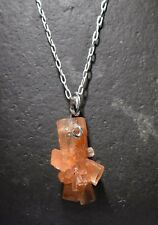 Aragonite Necklace  Jewelry Aragonite Pendant Stone Necklace Bead sterling wrap