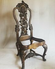 Heavily Carved Antique Accent Chair