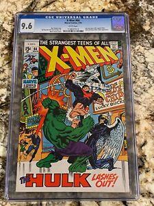 X-MEN #66 CGC 9.6 RARE WHITE PAGES UNPRESSED SUPER HI END KEY VS THE HULK INVEST