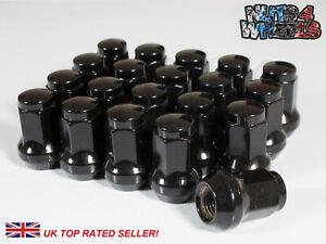 20 x Black Hex Wheel Nuts M12x1.5 Fits Honda Civic EG EK EP3 EK9 FN2 TYPE R