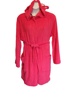 NEW Bunny ROBE Plus Size 1X 18W 20W Hooded Pink Ultra Plush Short Slippers NWT