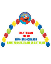 ELMO Birthday Party BALLOON ARCH for Cake Table Gift Table Sesame Street