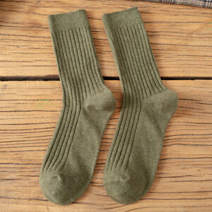 5 Pairs Women Warm Socks Thick Winter Solid Soft Casual Sports Activewear Comfy