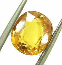 5.80 Ct Certified Natural Yellow Sapphire Pukhraj Loose Oval Gemstone - 78111
