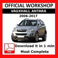 >> OFFICIAL WORKSHOP Manual Service Repair Vauxhall Antara 2006 - 2017