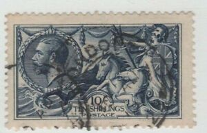 GB  KGV SG402  10/- SEAHORSE by WATERLOW 1913