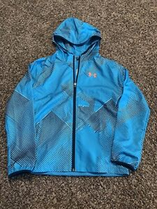 Under Armour Hooded Sackpack Wind Jacket Youth Boys Large NEW