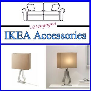 """IKEA Klabb Table lamp with LED bulb, light brown, nickel-plated 17"""" / 704.275.65"""