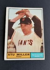 ORIGINAL1961 TOPPS SAN FRANCISCO GIANTS BASEBALL CARD #72 STU MILLER EXCELLENT