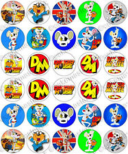30 x Danger Mouse Party Edible Rice Wafer Paper Cupcake Toppers