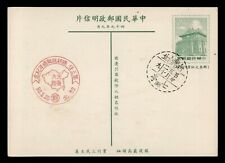 DR WHO TAIWAN CHINA POSTAL CARD STATIONERY PICTORIAL CANCEL C203128