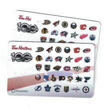 ( 2 )Tim Hortons 2017 NHL 100th CENTENNIAL SEASON 31 TEAM LOGO Gift Card FD59154