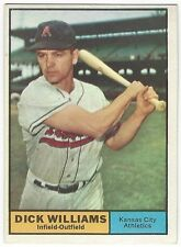 1961 TOPPS BASEBALL #8 DICK WILLIAMS - EXCELLENT-