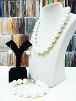 14mm Round South Sea Shell Pearl Necklace Bracelet Earring Women Jewelry Set