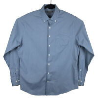Peter Millar Summer Comfort Mens Blue Plaid Long Sleeve Button Shirt Large