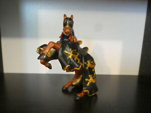 Figurine PAPO Chevalier Moyen âge Le cheval du roi Richard Noir et doré de 2005