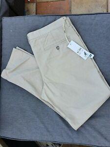 💣 BNWT KANGO CHINO Trousers Stone W38R L32 RRP £39.99