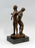 9937825-dss Bronze Skulptur Patoue männlicher Akt erotisch LGBT 13x10x27cm