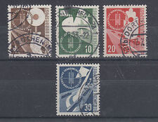 Germany Sc 698-701 used 1953 Train & Signal complete, VF