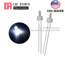 100pcs 2mm Diffused LED Diodes White Color White Light DIP Flat Top USA