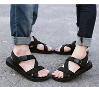 Mens Womens Fashion Summer Flat Sandals Sports Walking Non Slip Beach Shoes