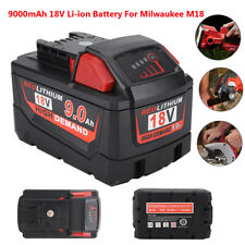 Rechargeable 18V 9000mAh/9.0Ah Battery for Milwaukee M18 Multi-level Protections