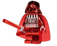**NEW** LEGO Custom Printed - RED CHROME DARTH VADER - Star Wars Sith Minifigure
