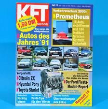 KfT Kraftfahrzeugtechnik 12/1991 Hyundai Pony Toyota Starlet Citroen ZX Ford T
