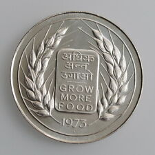"""India 20 rupees 1973, UNC, """"FAO - Grow More Food"""""""