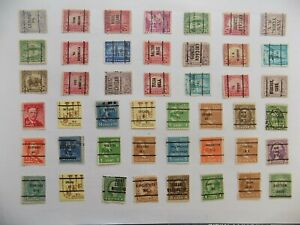 U S Collection of all used PRECANCEL DEFINITIVES -9-20-H-We combine shipping