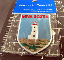 Nova Scotia Canada beautiful Lighthouse Embroidered iron on Patch, great patch