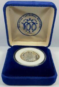 1898 - 1998 PHILIPPINE CENTENNIAL SILVER MEDAL COIN BOX COA AGUINALDO RAMOS